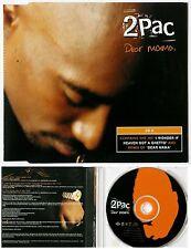 "2PAC *VG+* 1996 DUTCH DEATH ROW CD SINGLE ""DEAR MAMA"" + 2"