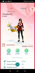Pokémon Go account shiny rayquaza latias Mewtwo kyogre giratina groudon yveltal