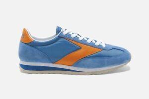 New Brooks Vanguard Blue Orange Vintage Style Running Sneakers Shoes Mens 13 D