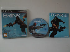 BRINK Game PS3 Complete with record - Essentials