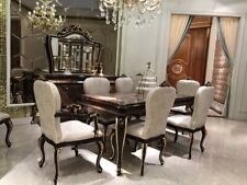 Dining Table 8 Chairs Chair Dining Room Set Baroque Rococo Tables Table E70 9tlg