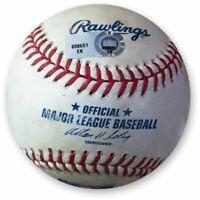 Zack Greinke Game Used Baseball 8/10/13 Matthew Joyce Foul Ball Dodgers EK658651