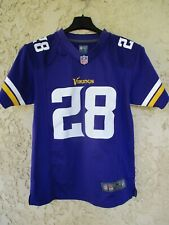 Maillot foot américain US MINNESOTA VIKINGS PETERSON 28 NFL shirt NIKE 10 12 ans