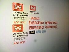 US Army Corps of Engineers Emergency Van Vehicle Decals 1:24