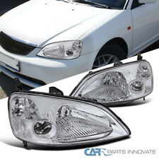 Fit 2001-2003 Honda Civic EM ES 2Dr/4Dr Coupe Sedan JDM Chrome Headlights Lamps