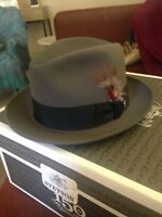 Royal Stetson Caribou Fedora size 7 3/8 new and in box