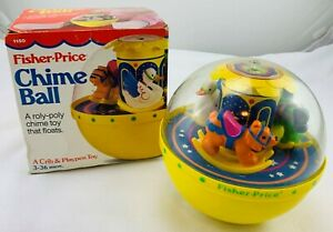 1985 Fisher Price Chime Ball in Original Box Great Condition FREE SHIPPING