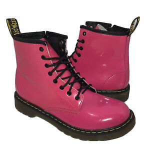 Dr. Martens Air Wair Delaney Pink 8 Eye Combat Boots Size 5 Women 4Youth (AW004)