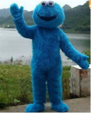 NEW SESAME STREET COOKIE MONSTER ADULT MASCOT CARTOON COSTUME GIFT