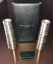 NIB DONNA KARAN LENOX Bound Horizontal Silver (small) Candlestick SET of 2 $150