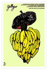 "Cuban movie Poster for film""GALLEGO""Spaniard Banana art.Modern Home decor"