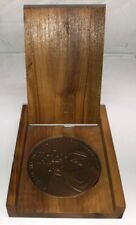 At 13 For The Fulfillment Of The Mitzvoth Medal W/ Wooden Case- Vintage