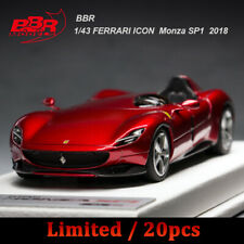 BBR 1:43 Scale Ferrari Monza SP1 2018 Rosso Portofino Resin Car Model Collection