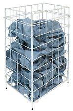 Abfallkorb Papierkorb Sammelkorb Handtuchkorb 54 L Metall Weiß