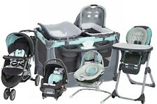 Baby Stroller with Car Seat Travel System High Chair Infant Bouncer Playard Set