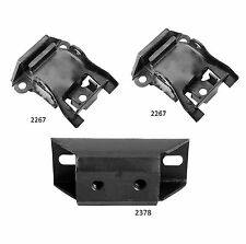 3 PCS Front Motor & Manual Trans Mount For 1957 Chevrolet BEL AIR 4.6L BASE