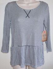Ladies Cute Route 66 Black & White BABYDOLL TOP Dress Casual Blouse Shirt sz XS