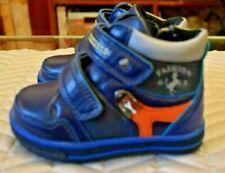 Mark Shoes Fashion infant's shoes/boots Sz 22 6 Blue/orange Fleece lined Velcro