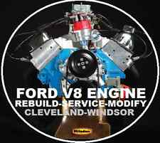 FORD V8  260 289 302 351 WINDSOR-CLEVELAND REBUILD REPAIR WORKSHOP MANUAL CD