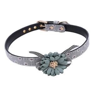 Girls Dogs Fancy Flower Dog Collar Pet Dog Show Collar Necklace Decoration T