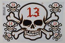 A4 Sheet Skulls Stickers/Decals Skateboard/Bikes/Quads/Scooters/BMX/Locker 13