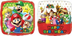 Super Mario Party Foil Balloon 45cm Helium Quality - Super Mario Party Supplies