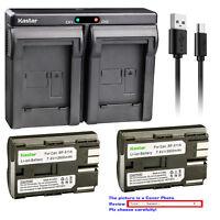Kastar Dual Charger Battery for Canon BP-511 CG-580 & Canon Optura 10 Optura 20