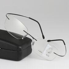 Rimless Ultralight Alloy Multifocal Progressive distance&near Reading Glasses