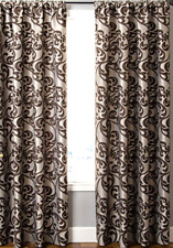 "New Kaylan Rod-Pocket Curtain Panel Chocolate 56"" x 84"""