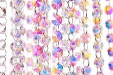CRYSTAL GARLAND STRANDS 14MM/18MM GLASS 1 METER LENGTH 17 COLORS CRYSTAL TREE