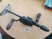 Vintage Original Record No 144 Breast Hand Drill. 2 Speed Working Collectable