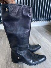 STUART WEITZMAN Black Leather Boots Size 36