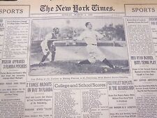 1928 MARCH 4 NEW YORK TIMES SPORTS SECTION - LOU GEHRIG - NICE PHOTOS - NT 5351