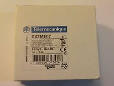 TELEMECANIQUE GV2ME07 Motor Circuit Breakers 1.6 to 2.5 amp  QTY - 1 NEW IN BOX
