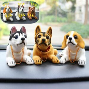 Puppy Dog Toy Swing Head Shiba Husky Nodding Moving Bobble Car Home Decor Gift