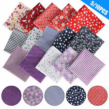 10/5pcs DIY Assorted Pre Cut Charm 50*50cm Cotton Squares Quilt Fabric Quarter