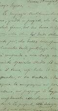 Lettera Autografa di Giuseppe Brini Giurista Diritto Romano Macerata 1899