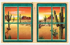 DESERT Scene Setter wall decoration scenic window Wild West cactus mountains