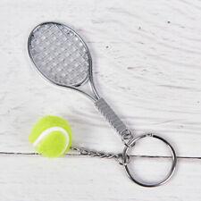 Llavero Raqueta de tenis con pelota metalizado Key chain NUEVO