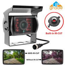 4 Pin CCD 12V-24V Bus Truck Trailer Rear View Backup Camera Night Vision IR-CUT