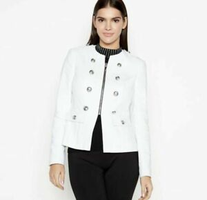 Star by Julien Macdonald Women's White button Drummer  Boy Jacket  Coat Size 16