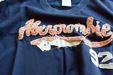 T-Shirt Abercormbie & Fitch - mis. L - col. Blu logo A&F