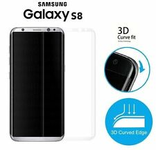 Clear Premium 3D Curved Tempered Glass Screen Protector Cover Samsung Galaxy S8