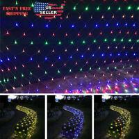 LED Net Mesh Christmas Light Waterproof String Lights Xmas Decor Party Garden