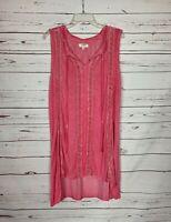 Umgee USA Boutique Women's Sz M Medium Pink Lace Sleeveless Spring Summer Dress