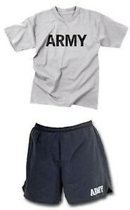 US Army Pft Physical Training Sport Dress Trousers Shirt Shorts Pants Trackies