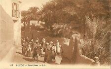 POST CARD AFRICA EGYPT EGYPTE LUXOR STREET SCENE