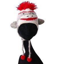 Lustige Strickmütze Mütze aus Wolle mit Gesicht