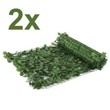 """Faux Ivy Privacy Fence Screen 94""""X39"""" Artificial Hedge Fencing Outdoor Decor X2"""
