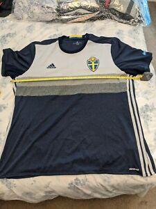Adidas Sweden Football Away Shirt XXL